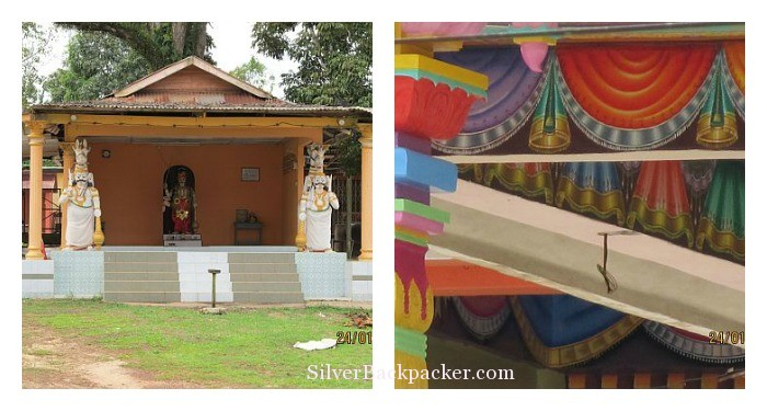 New Hindu Temple at Menkarak with a colourful interior