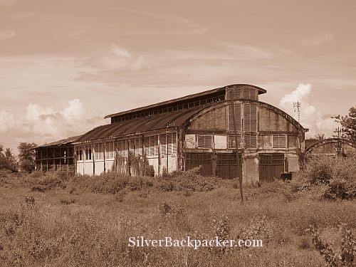 Battambang Train shed ruins