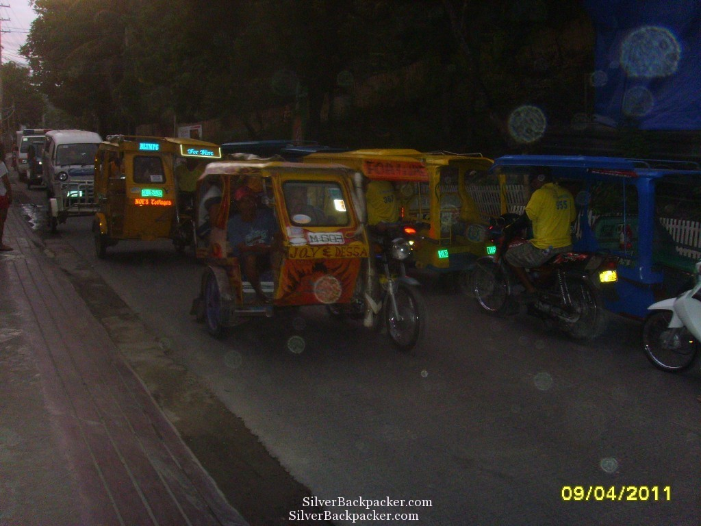 Polluting Tricycles in Boracay. Unseen Boracay