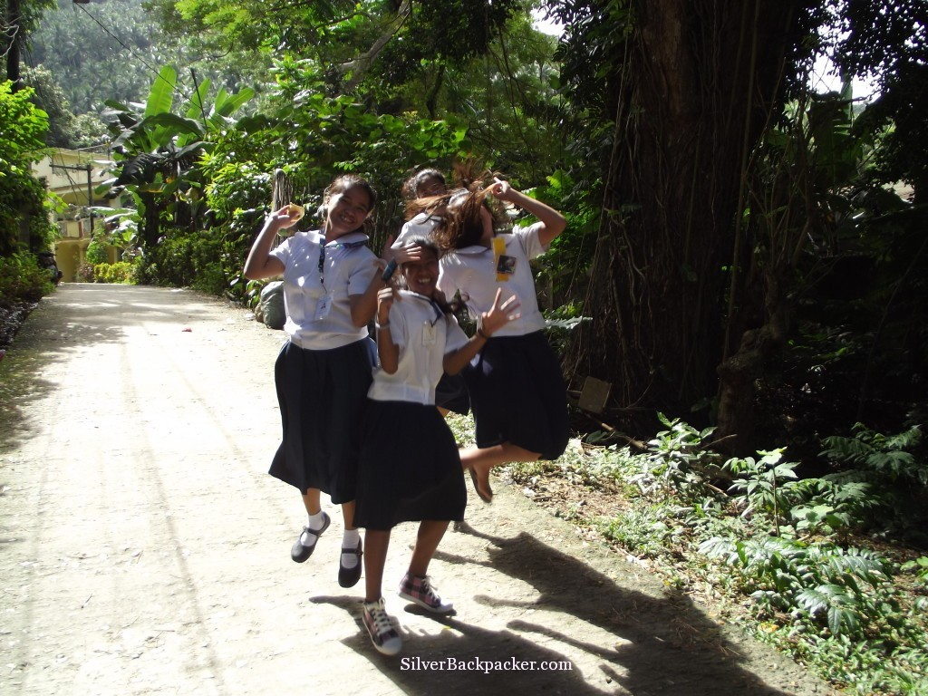 Happy girls finishing school for the day in Romblon, Philippines. Weekly Photo Challenge
