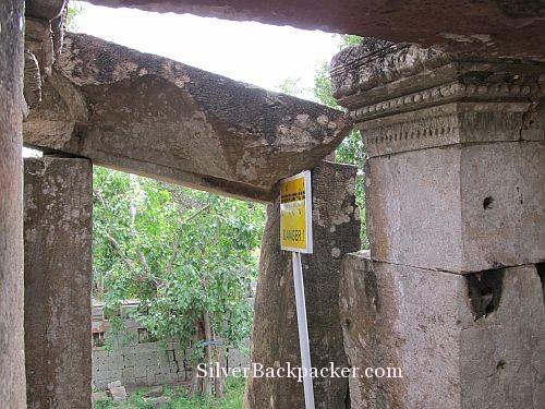 Ek Phnom Bike Ride Danger Sign. Weekly Photo Challenge