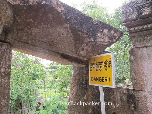 Ek Phnom Danger Sign. Weekly Photo Challenge