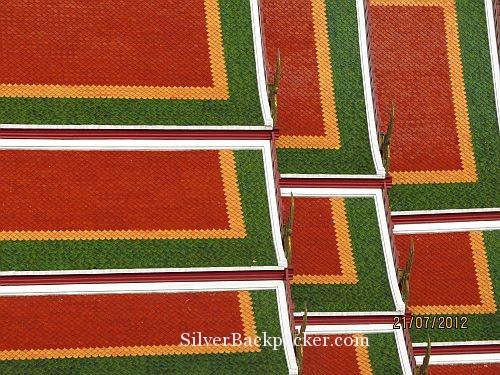 Bangkok Roof Tiles. Weekly Photo Challenge