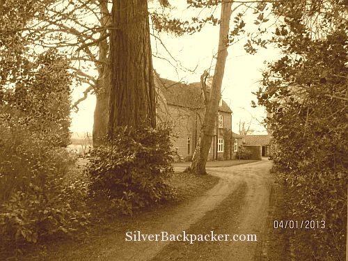 Down the old rectory drive. Braunston in Rutland