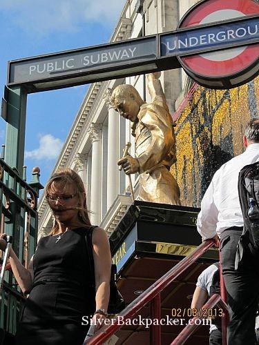 Statue of Freddie Mercury at Dominion Theatre