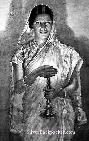 Glow of Hope or The Woman with the Lamp Mysore