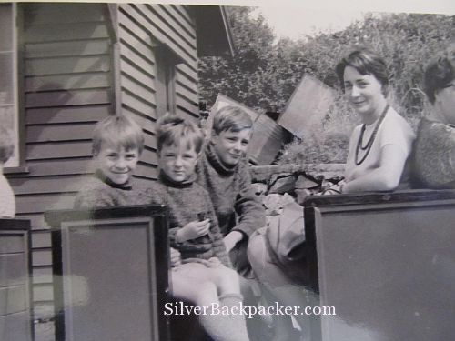 Lakeland train ride with Mum and my brothers 1965