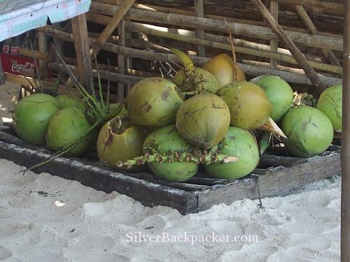 Puka Beach fresh buko waiting to be sold