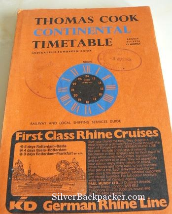Thomas Cook Continental Timetable 1974