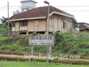rail workers house behind menkarak station jungle railway