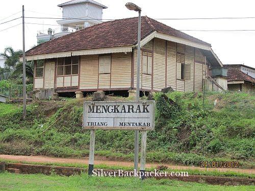 rail workers house behind menkarak station jungle railway