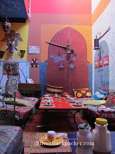 Communal breakfast area Riad Marrakech Rouge