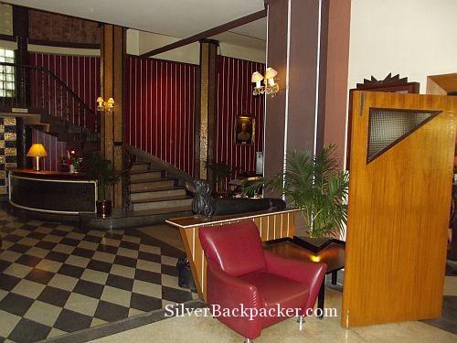 Dachsund carving at The Atlanta Hotel Bangkok