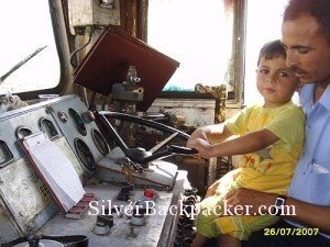 Father and Son Syrian Train Drivers