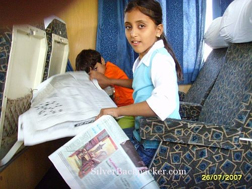 Syrian train girl passenger
