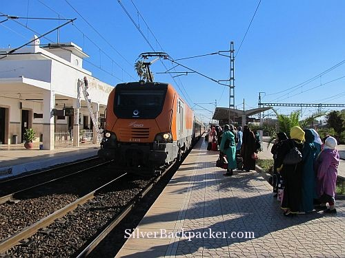 Marrakesh Express approaches Meknes Station