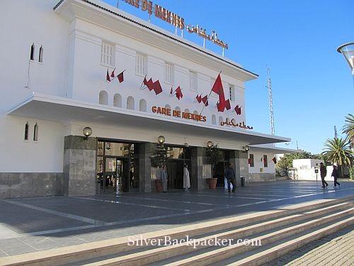 Meknes Train Station Entrance