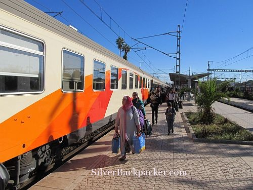 Passengers boarding Marrakesh Express. No pigs,ducks or chickens in sight