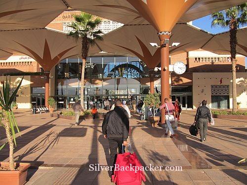 Passengers exit Marrakesh Platform
