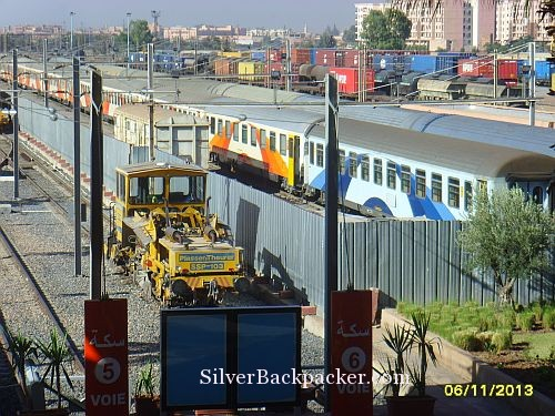 Rolling Stock in sidings at Marrakesh. Marrakesh to Chefchaouen by train and bus