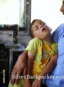 Siesta time for Young Syrian Train Driver