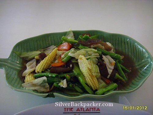 Stir fry vegetables at Atlanta Hotel Restaurant