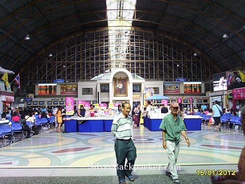 Waiting Hall Hualamphopng Train Station Bangkok