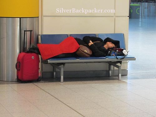 airport sleeping at Gatwick