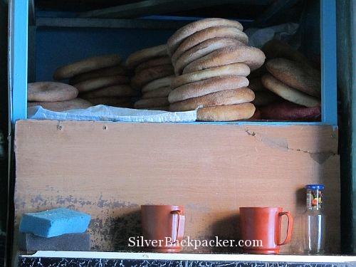 fresh bread chefchaouen