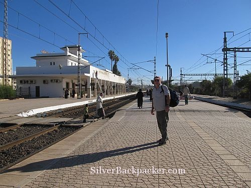 waiting for the Marrakesh Express in Meknes