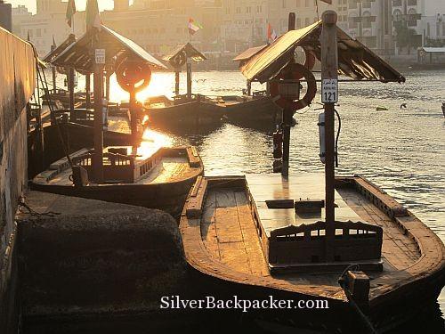 Abras at Sunrise along Dubai Creek