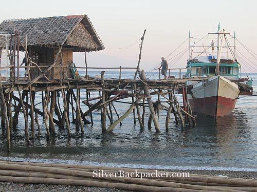 Boat docked at Libertad pier