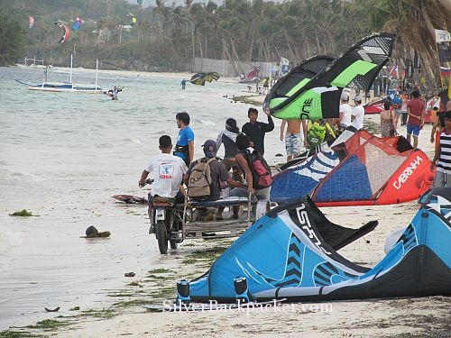 Busy on Bulabog Beach Boracay
