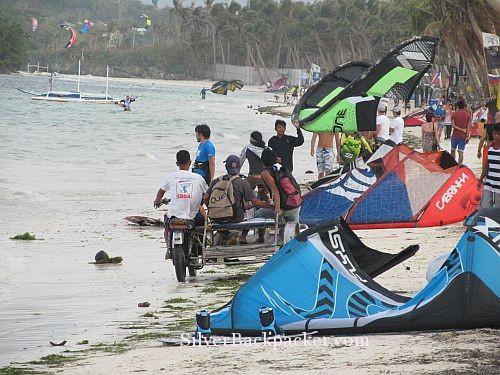 Busy on Bulabog Beach Boracay