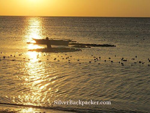 Caluya sunset on the seaweed farm