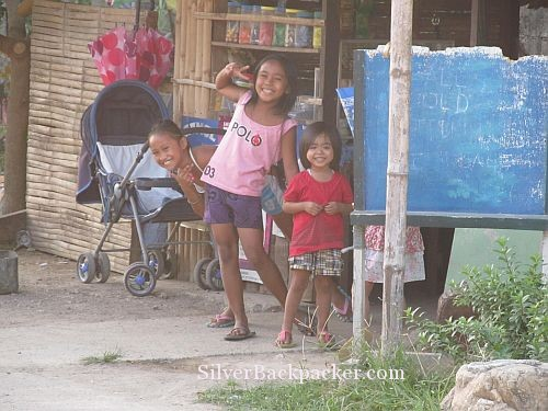 Happy Children saying Hello in Libertad