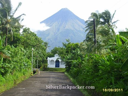 Mayon Volcano at the end of the road