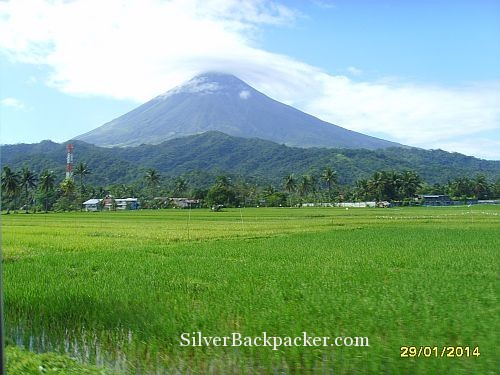 Mayon spinning the clouds higher and higher