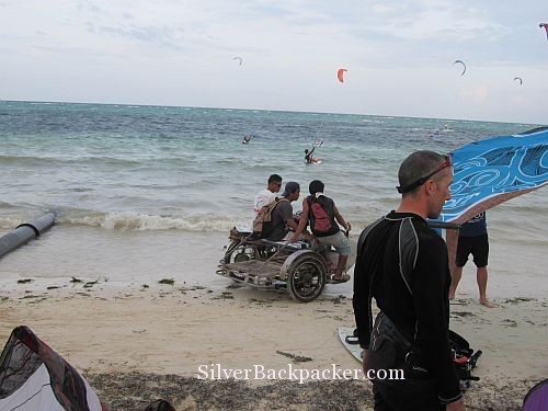 Kitesurfing on Bulabog Beach and motor bike