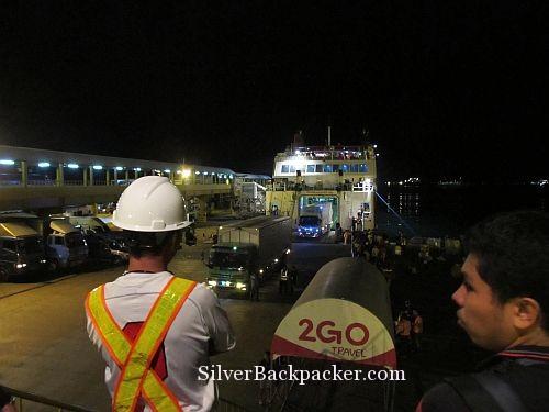 boarding 2Go ferry in Batangas