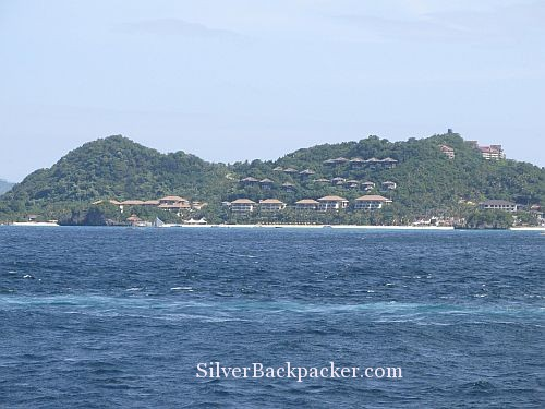passing Shangri-la Resort Boracay