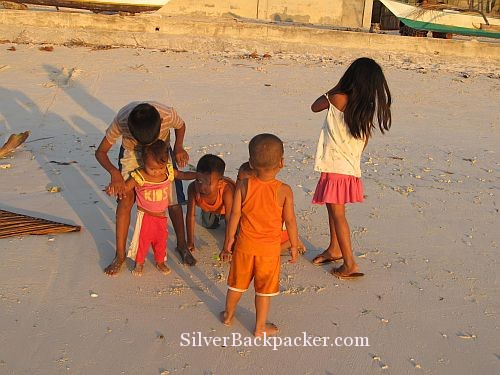 Caluya Children Playing on beach