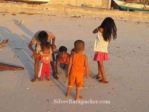 Caluya Children Playing on beach