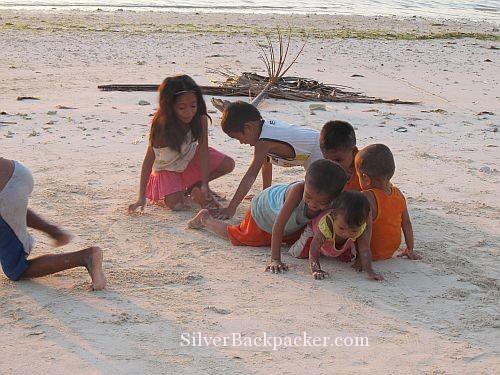 Caluya Children on beach