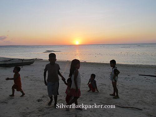 Caluya Sunset and Beach Children