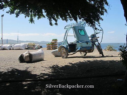 tricycle at semirara pier