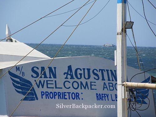 Semirara The dot becomes bigger. slow travel by boat