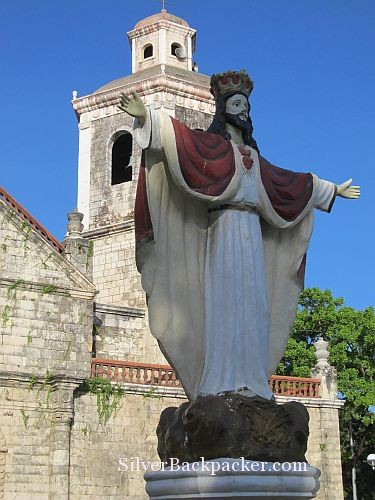 Jesus Statue and bell tower San Joaquin Church