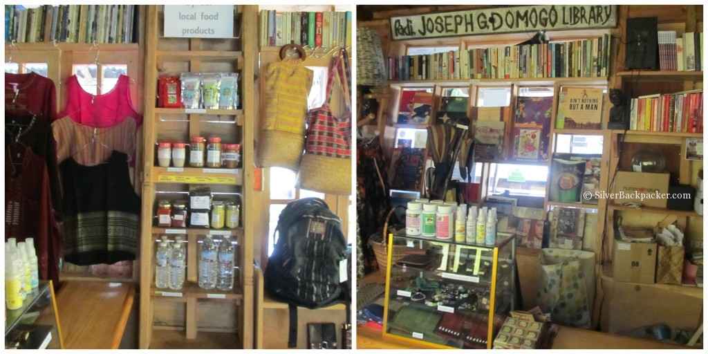 Gaia shop and library