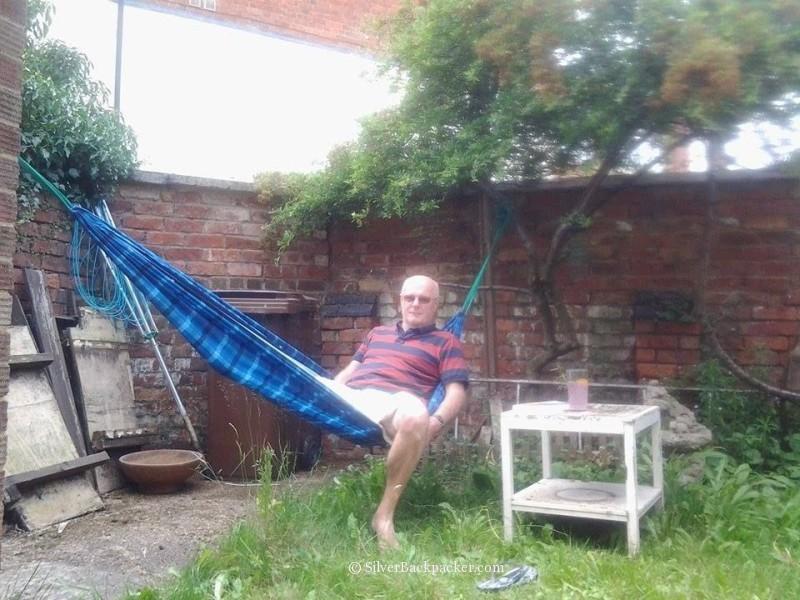 hammock republic in garden in england